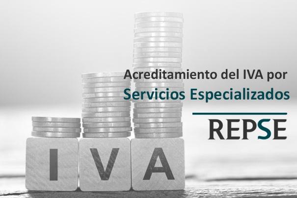 Acreditamiento del iva por servicios especializados
